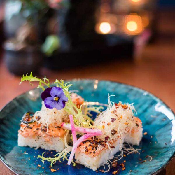 Sake Miso Oshi Zushi Roll